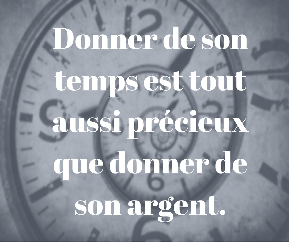 Donner de son temps